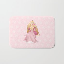 Blond Princess Smells A Rose Bath Mat