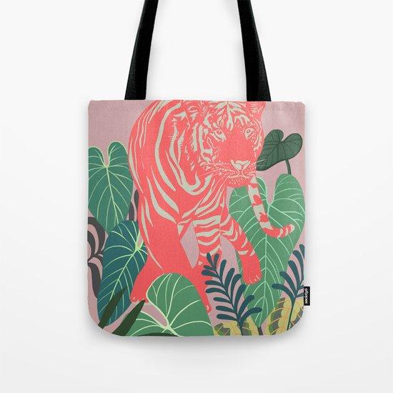 Aloha Tiger, Tiger print, Animal print, jungle print Tote Bag