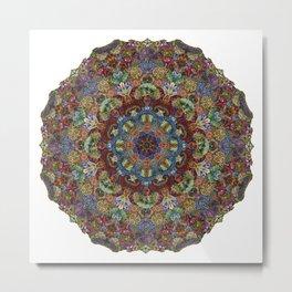 Hallucination Mandala 2 Metal Print