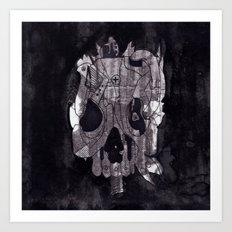 Metal Skull Art Print