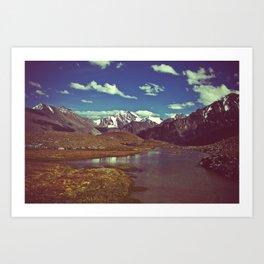 mountain mirror Art Print