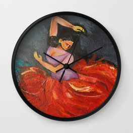 The Spanish Dance Wall Clock