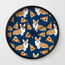 Pizza and Corgi Wall Clock