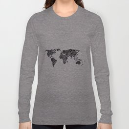 Word Map in a parallel universe Long Sleeve T-shirt