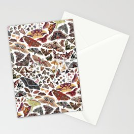 Moths of North America Pattern Stationery Cards