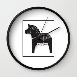Spring Dala Horse 3 Wall Clock