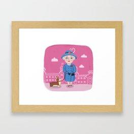 The Queen Framed Art Print