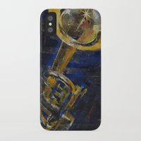 trumpet iPhone & iPod Cases featuring Trumpet by Michael Creese