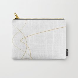 Kintsugi 2 #art #decor #buyart #japanese #gold #white #kirovair #design Carry-All Pouch