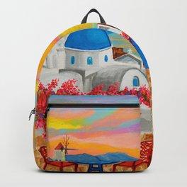 Santorini Sunset Backpack