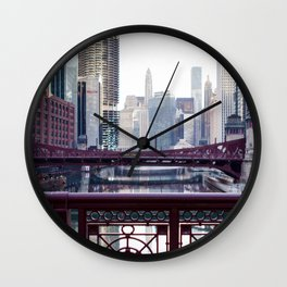 Chicago River Walk Wall Clock
