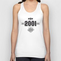 2001 Tank Tops featuring Born in 2001 by ipiapacs