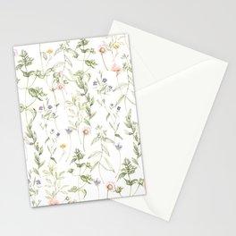 Pastel Vintage Flowers Stationery Cards