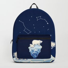 Polar bears on iceberg Backpack