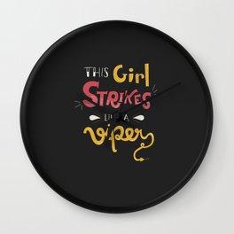 This Girl Strikes like a Viper Wall Clock