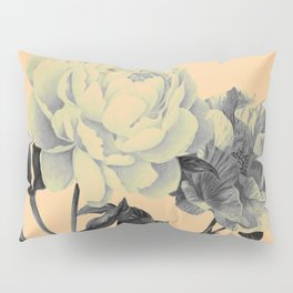 roeses on coral background Pillow Sham
