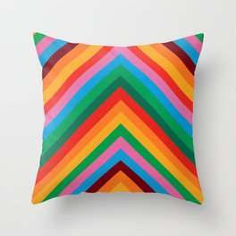 Colorful Rainbow Zig Zag Chevron                                                  Throw Pillow
