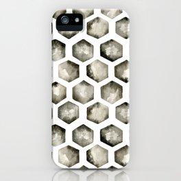 Watercolor Hexagons iPhone Case