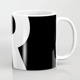 Letter R (White & Black) Coffee Mug