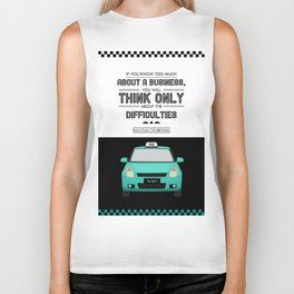 Lab No. 4 - Think About Difficulties Business Motivational Quotes Poster Biker Tank