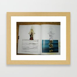 another photo from one of my sketchbooks Framed Art Print