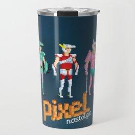 Saint Seiya - Pixel Nostalgia Travel Mug