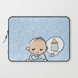 Baby boy Thinking of Milk Laptop Sleeve