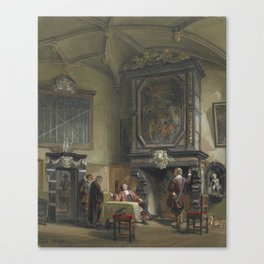 Treasury Hall, Ghent, London, by Louis Haghe. Canvas Print