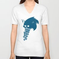 sonic V-neck T-shirts featuring Sonic by La Manette