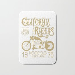 Vintage Retro Motorcycle Gift For Men California Motorcycle Racing Bath Mat