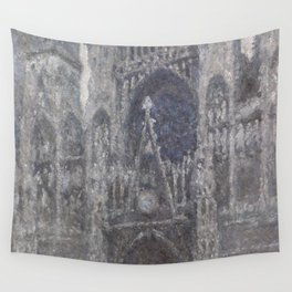 1892-Claude Monet-The Cathedral in Rouen. The portal, Grey Weather-65 x 100 Wall Tapestry