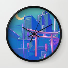 Neon Moon Wall Clock