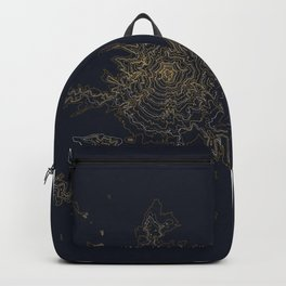Mount Hood, Oregon Contour Map Backpack