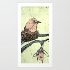 Bird Etching Art Print
