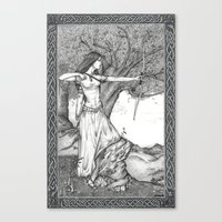 archer Canvas Prints featuring Archer by Laura-A