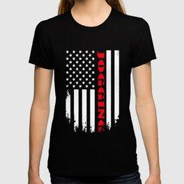 Patriotic Jogging Player - Flag T-shirt