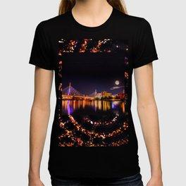 Moon light over Zakim bridge T-shirt