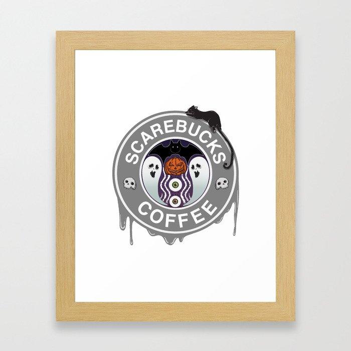Scarebucks Coffee Framed Art Print