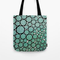 huebucket Tote Bags featuring Blooming Trees by Pom Graphic Design