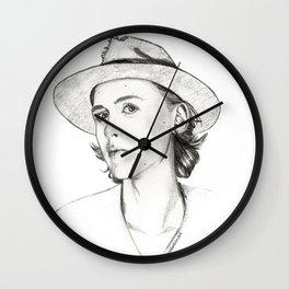 Henrik Holm drawing Wall Clock