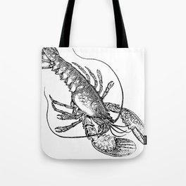 Vintage Lobster illustration Tote Bag