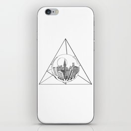 GRAPHIC Geometric. Shape Gray New York in a Bottle iPhone Skin