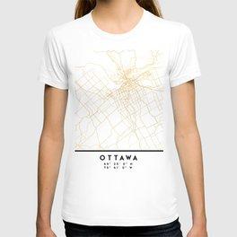 OTTAWA CANADA CITY STREET MAP ART T-shirt