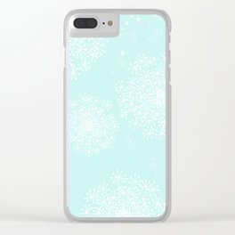 DANDY SNOWFLAKE AQUA Clear iPhone Case
