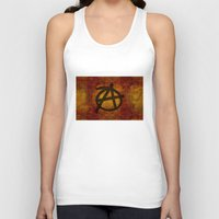 anarchy Tank Tops featuring Distressed Anarchy by Bruce Stanfield