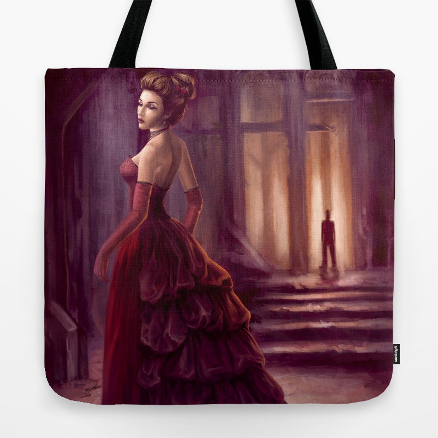 Don T Look Back Fantasy Art Tote Bag