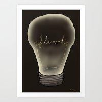 Filament Art Print