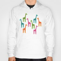 giraffes Hoodies featuring Giraffes by ts55