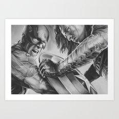 captain vs soldier Art Print