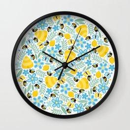 Busy Little Honeybees Wall Clock